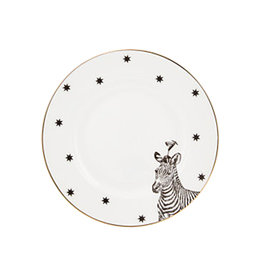 Yvonne Ellen Yvonne Ellen London Monochrome Set of 2 Plates Ø 16 cm - Zebra - Bone China