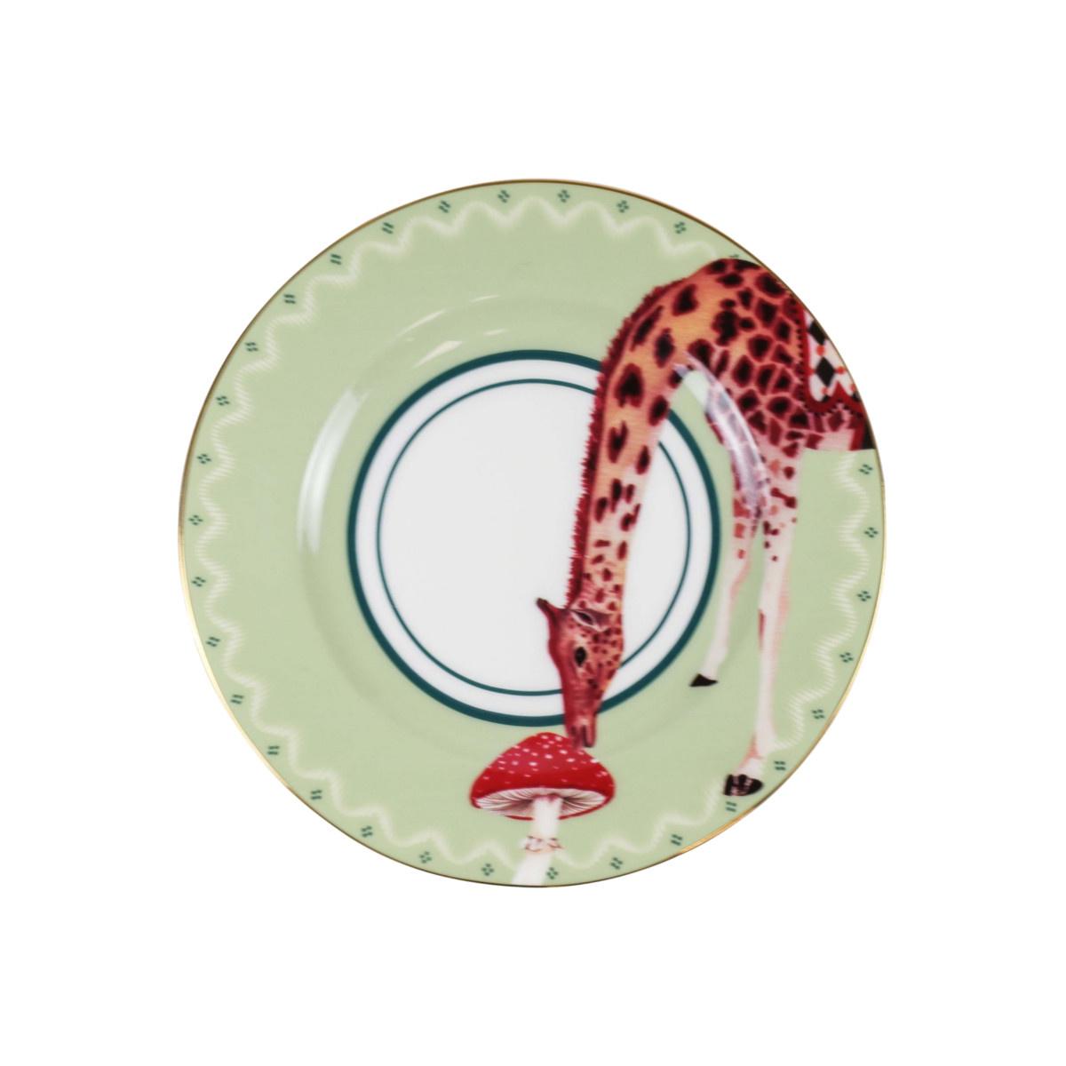 Yvonne Ellen London Yvonne Ellen London Carnival Animal 4-er Set Teller Ø 16 cm - Bone China Porzellan - In schöner Geschenkbox
