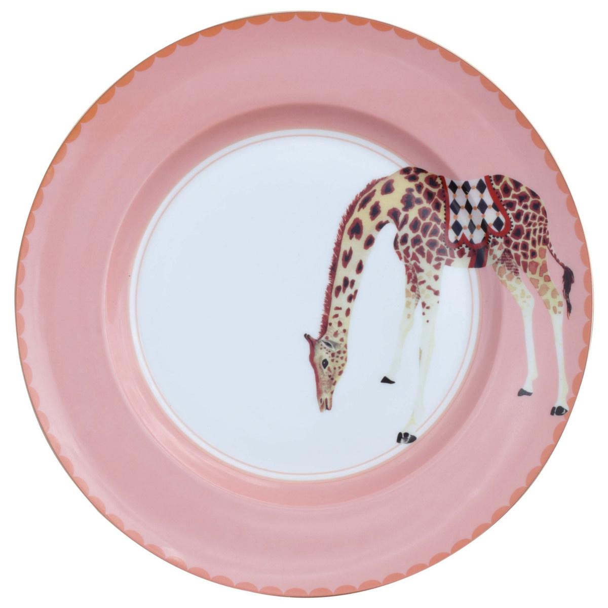 Yvonne Ellen London Yvonne Ellen London Carnival Animal Set of 4 Plates Ø 26,5 cm  - Bone China - In Beautiful Giftbox