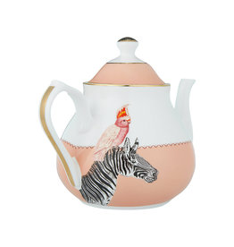 Yvonne Ellen London Yvonne Ellen - Carnival Animal Theepot 1,6 Liter - Zebra - Bone China