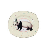 Yvonne Ellen London Yvonne Ellen London Carnival Animal Set o 4 Plates Ø 16 cm - Bone China - In Beautiful Giftbox