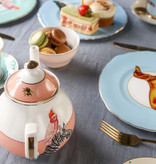 Yvonne Ellen London Yvonne Ellen London Carnival Animal Set de 4 Assiettes Ø 16 cm - Bone China Porcelaine - Boîte Cadeau