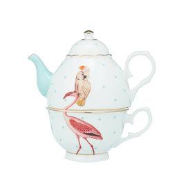 Yvonne Ellen London Yvonne Ellen - Carnival Animal  - 'Tea for One' Theepot 900 ml - Flamingo - Bone China - Copy
