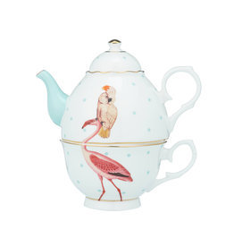 Yvonne Ellen London Yvonne Ellen London - Carnival Animal  - 'Tea for One' Teekanne 900 ml - Cheetah  - Porzellan - Copy