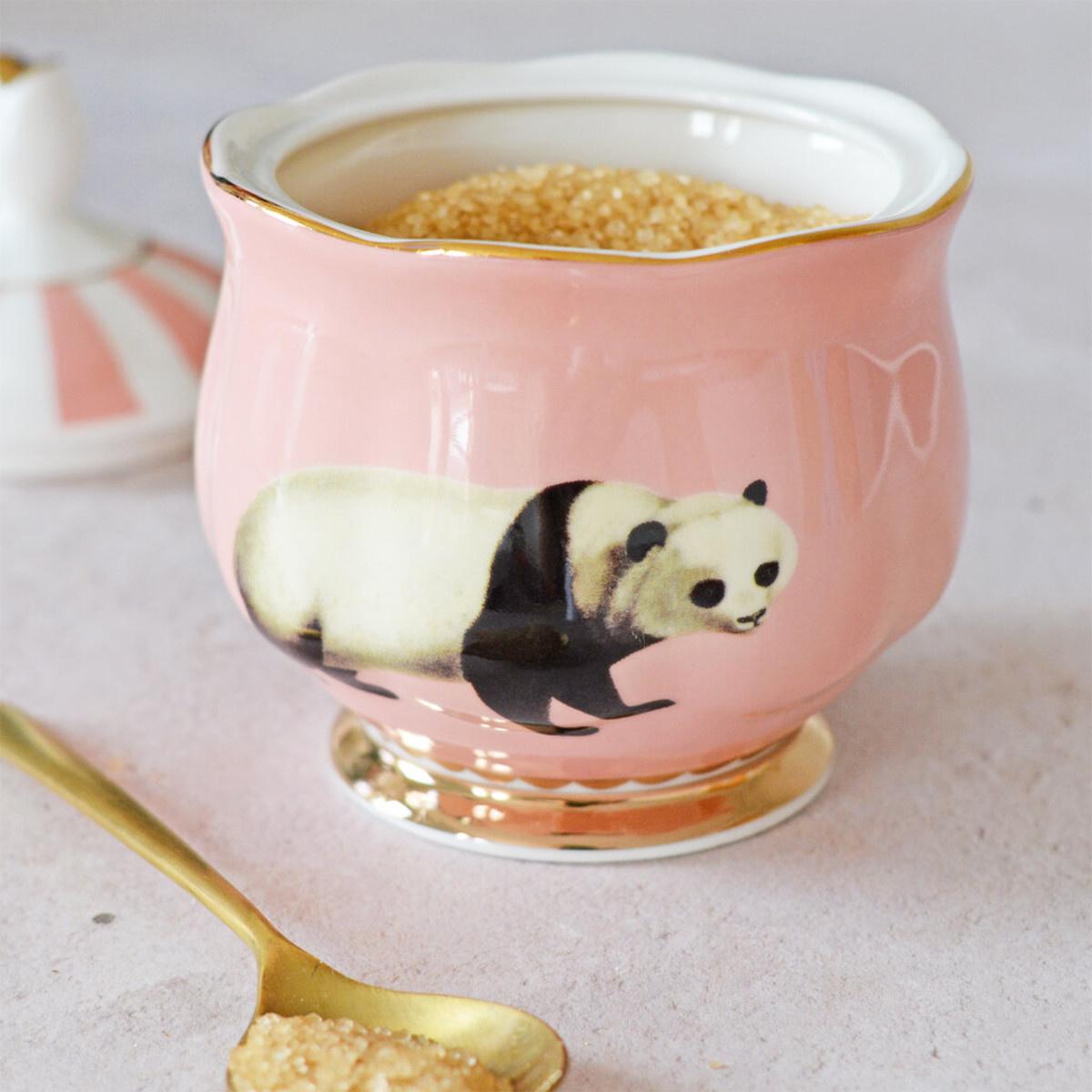 Yvonne Ellen London Yvonne Ellen - Carnival Animal  - Zuckerdose - Panda - Bone China Porzellan