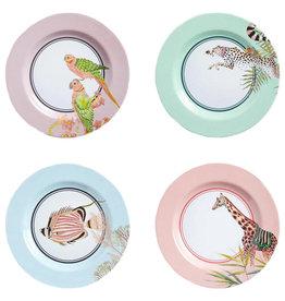 Yvonne Ellen London Yvonne Ellen PICNIC Safari - Set of 4 Side Plates Ø 21,5 cm - Melamine