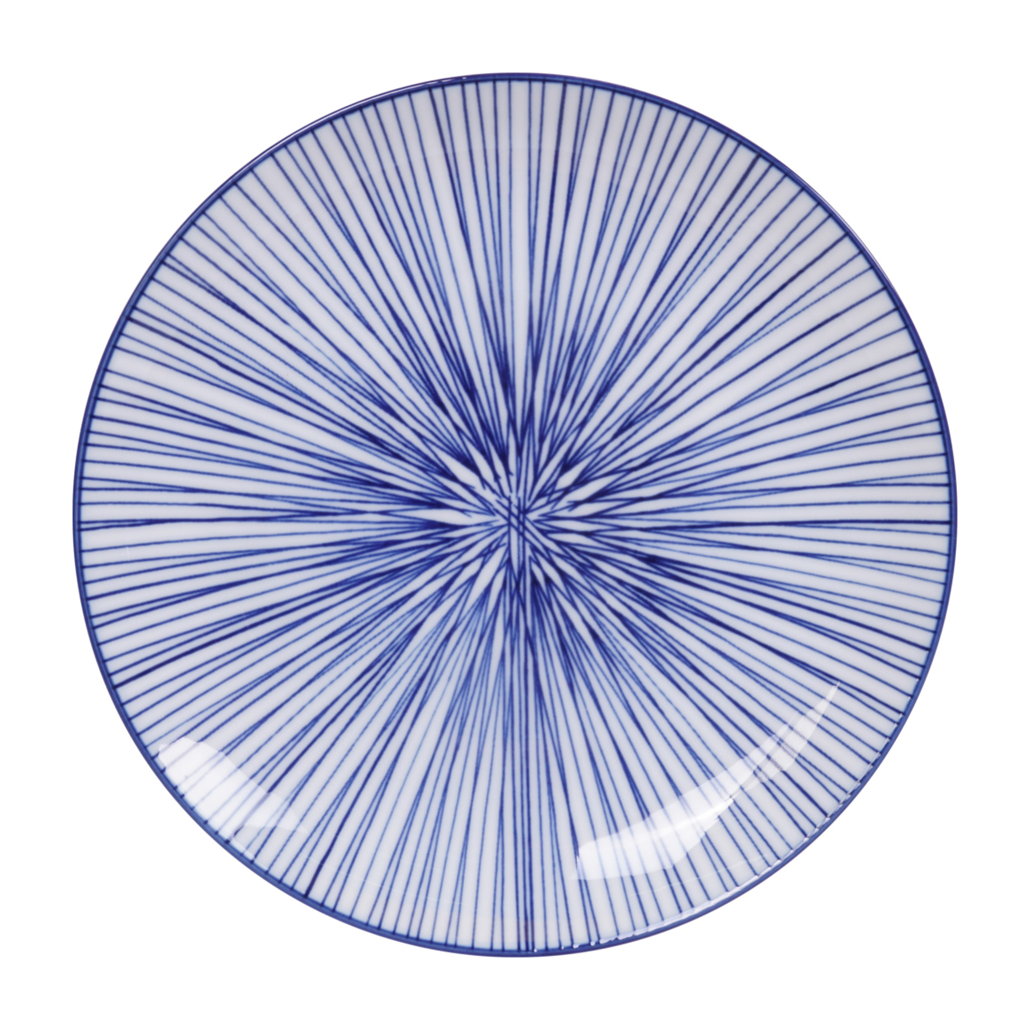 Tokyo Design Studio Lot de 4 Assiettes Ø 25,7 cm | Nippon Blue de Tokyo Design Studio | Lines