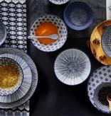 Tokyo Design Studio | Nippon Blue Set of 4 Plates Ø 25.7 cm  | Dots Design