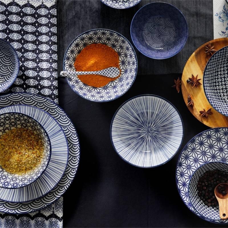 Tokyo Design Studio Lot de 4 Assiettes Ø 25,7 cm | Nippon Blue de Tokyo Design Studio | Dots