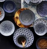 Tokyo Design Studio Tokyo Design Studio | Nippon Blue | 4-er Set Teller Ø 25,7 cm  | Wave Muster
