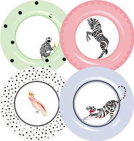 Yvonne Ellen London Yvonne Ellen PICNIC Safari - Set of 4 Dinner Plates Ø 26,6 cm - Melamine