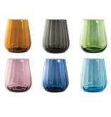 Livellara Livellara RINASCIMENTO  Glas / Tumbler 400 ml – Set van 6 – Mix van 6 Kleuren