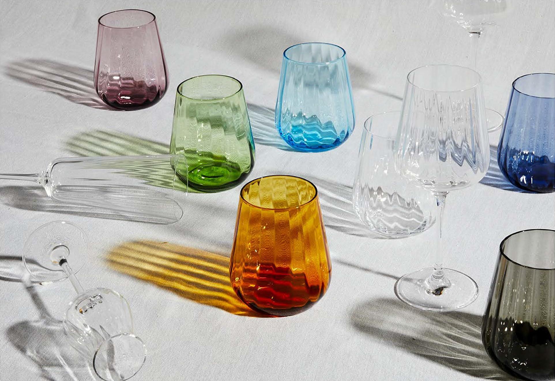 Livellara Livellara RINASCIMENTO  Verre Tumbler 400 ml – Lot de 6 – Amber