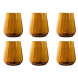 Livellara Livellara RINASCIMENTO  Glas 400 ml – 6-er Set – Amber