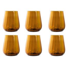 Livellara Livellara RINASCIMENTO  Glas / Tumbler 400 ml – Set van 6 – Kleur: Amber