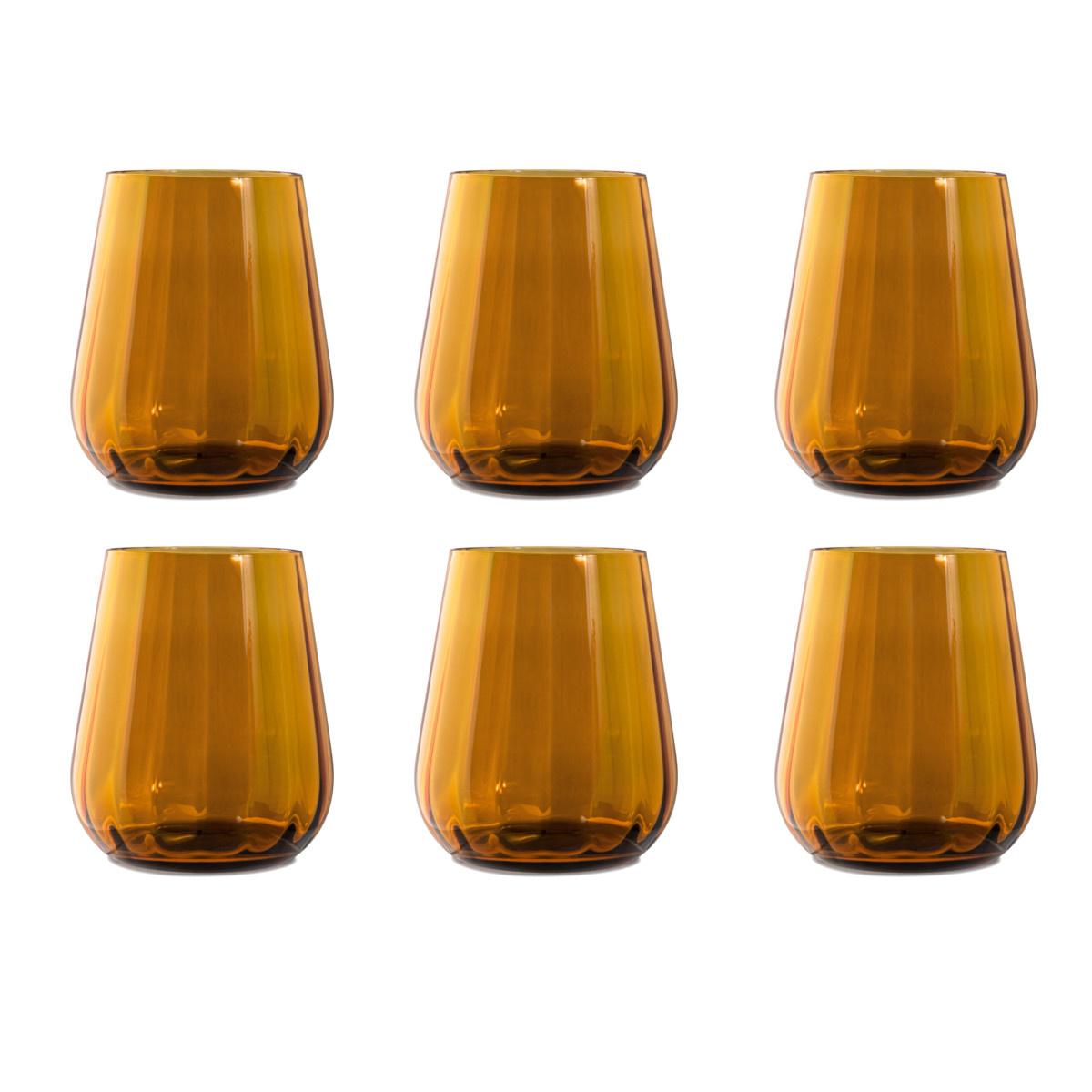 Livellara Livellara RINASCIMENTO  Tumbler 400 ml – Set of 6 – Amber
