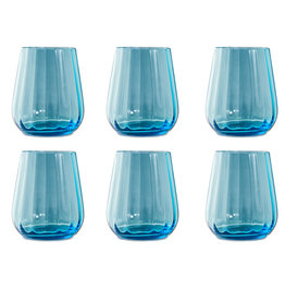 Livellara Livellara RINASCIMENTO  Tumbler 400 ml – Set of 6 – Turquoise