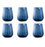 Livellara Livellara RINASCIMENTO  Verre Tumbler 400 ml – Lot de 6 – Bleu d'encre