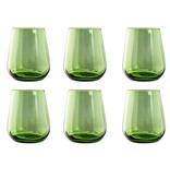 Livellara Livellara RINASCIMENTO  Glas / Tumbler 400 ml – Set van 6 – Kleur: Groen