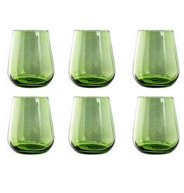 Livellara Livellara RINASCIMENTO  Glas 400 ml – 6-er Set – Grün