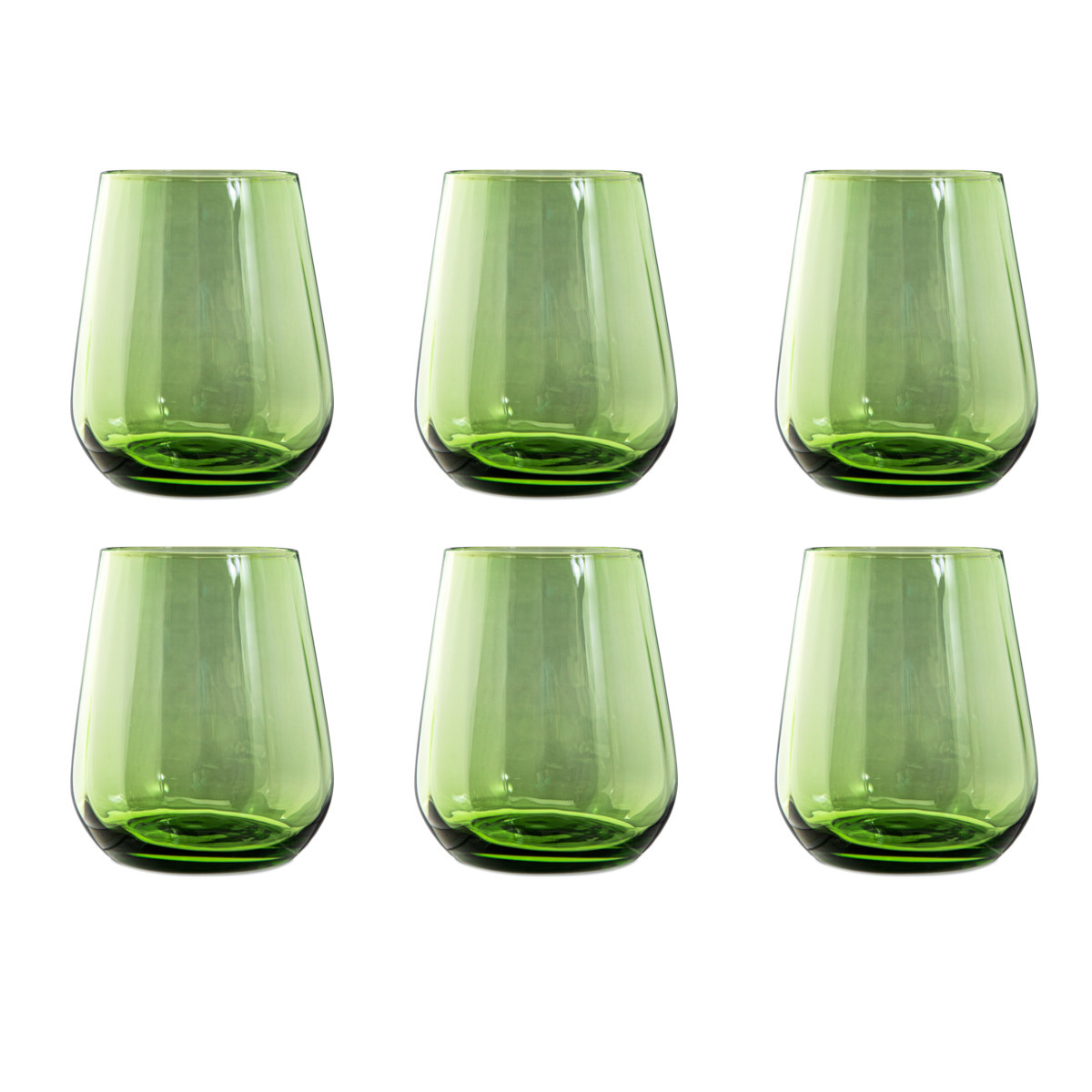 Livellara Livellara RINASCIMENTO  Verre Tumbler 400 ml – Lot de 6 – Vert