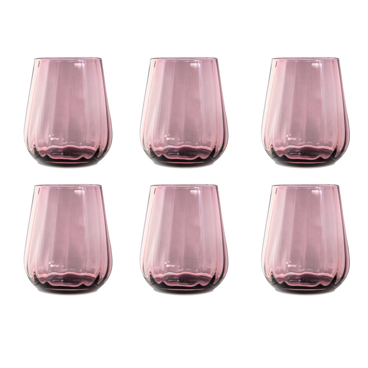 Livellara Livellara RINASCIMENTO  Glas / Tumbler 400 ml – Set van 6 – Kleur: Paars