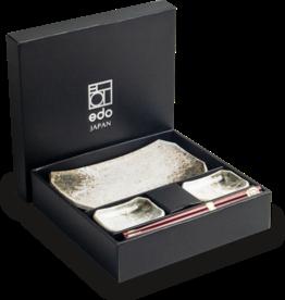 Edo Japan Edo Japan | HIKARI | Japanisches Sushi Geschirr Set | 6-Teilig | für 2 Personen | In Geschenkbox