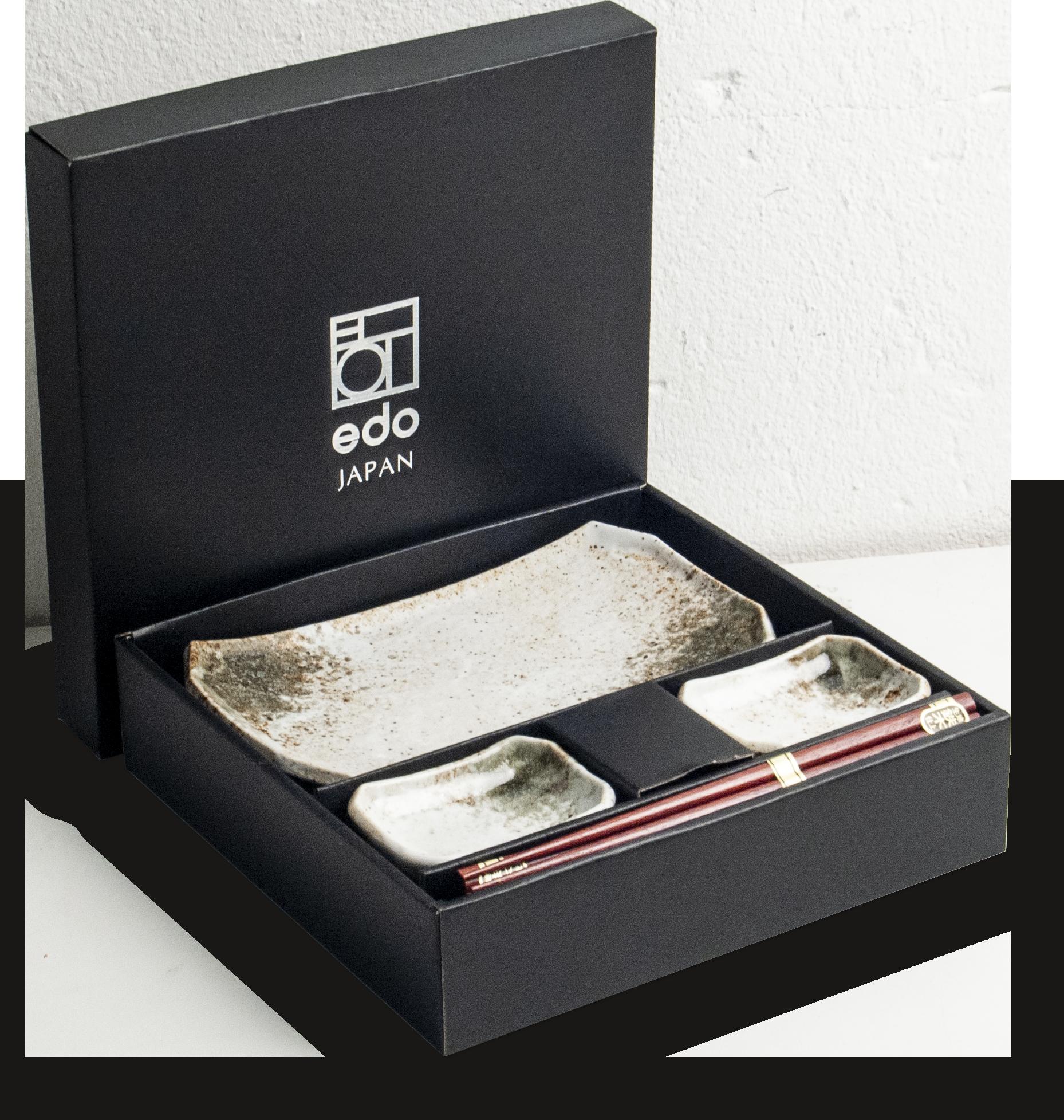 Edo Japan  Edo Japan   HIKARI   Japanisches Sushi Geschirr Set   6-Teilig   für 2 Personen   In Geschenkbox