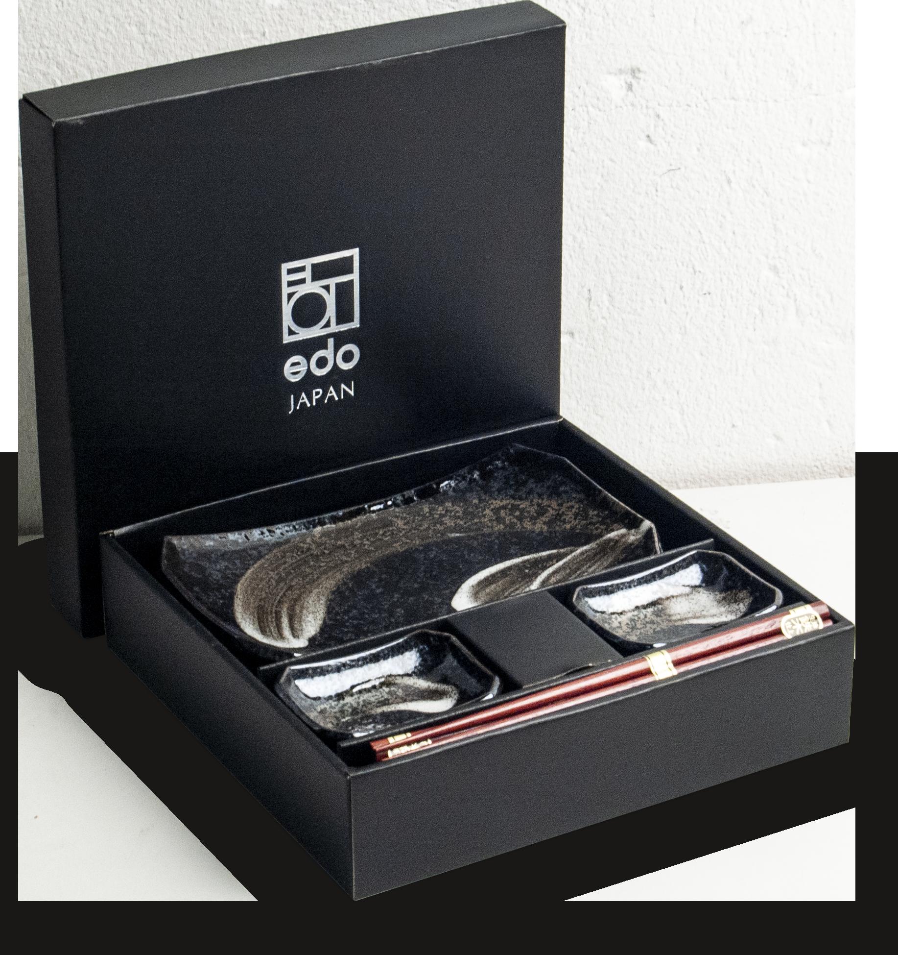 Edo Japan  Edo Japan   ANSEN   Japanisches Sushi Geschirr Set   6-Teilig   für 2 Personen   In Geschenkbox