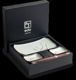 Edo Japan Edo Japan | HANA GREEN | Japanse Sushi Servies Set | 6-Delig | 2 Persoons | In Geschenkdoos