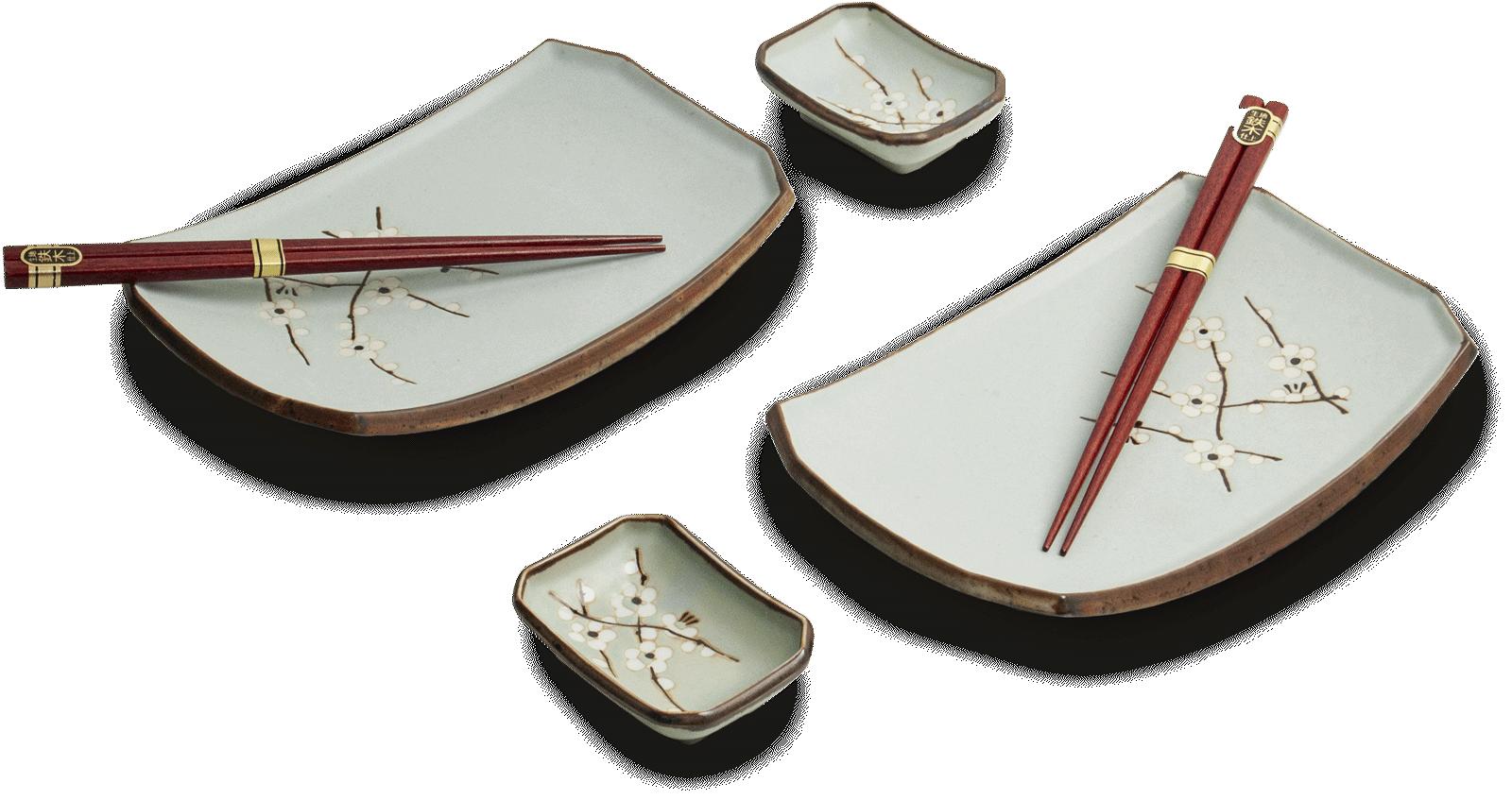 Edo Japan Coffret Service à Sushi HANA GREEN de Edo Japan    6-pièces