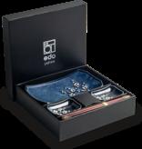 Edo Japan  Edo Japan   HANA BLUE   Japanisches Sushi Geschirr Set   6-Teilig   für 2 Personen   In Geschenkbox