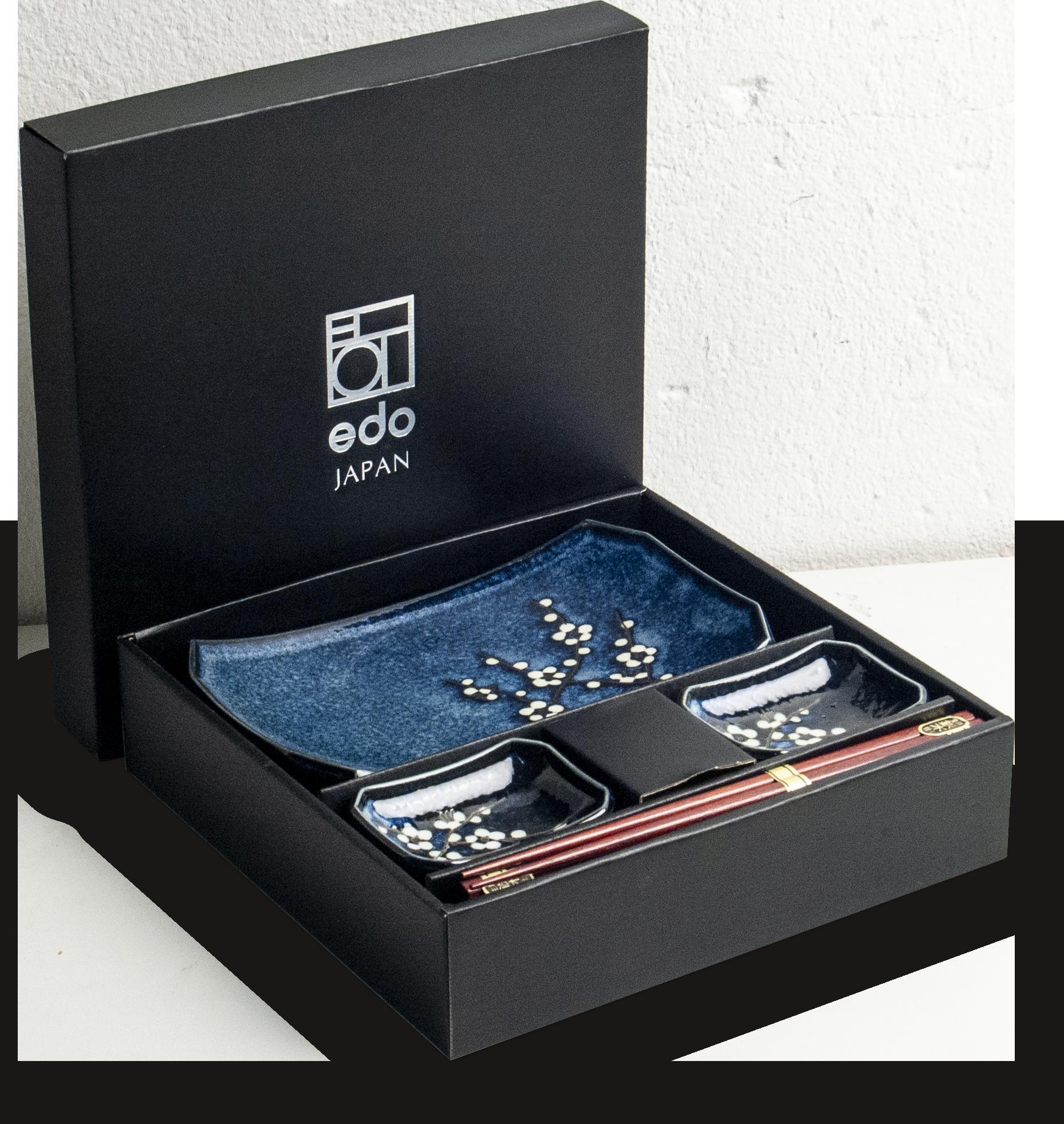 Edo Japan Coffret Service à Sushi HANA BLUE de Edo Japan |  6-pièces