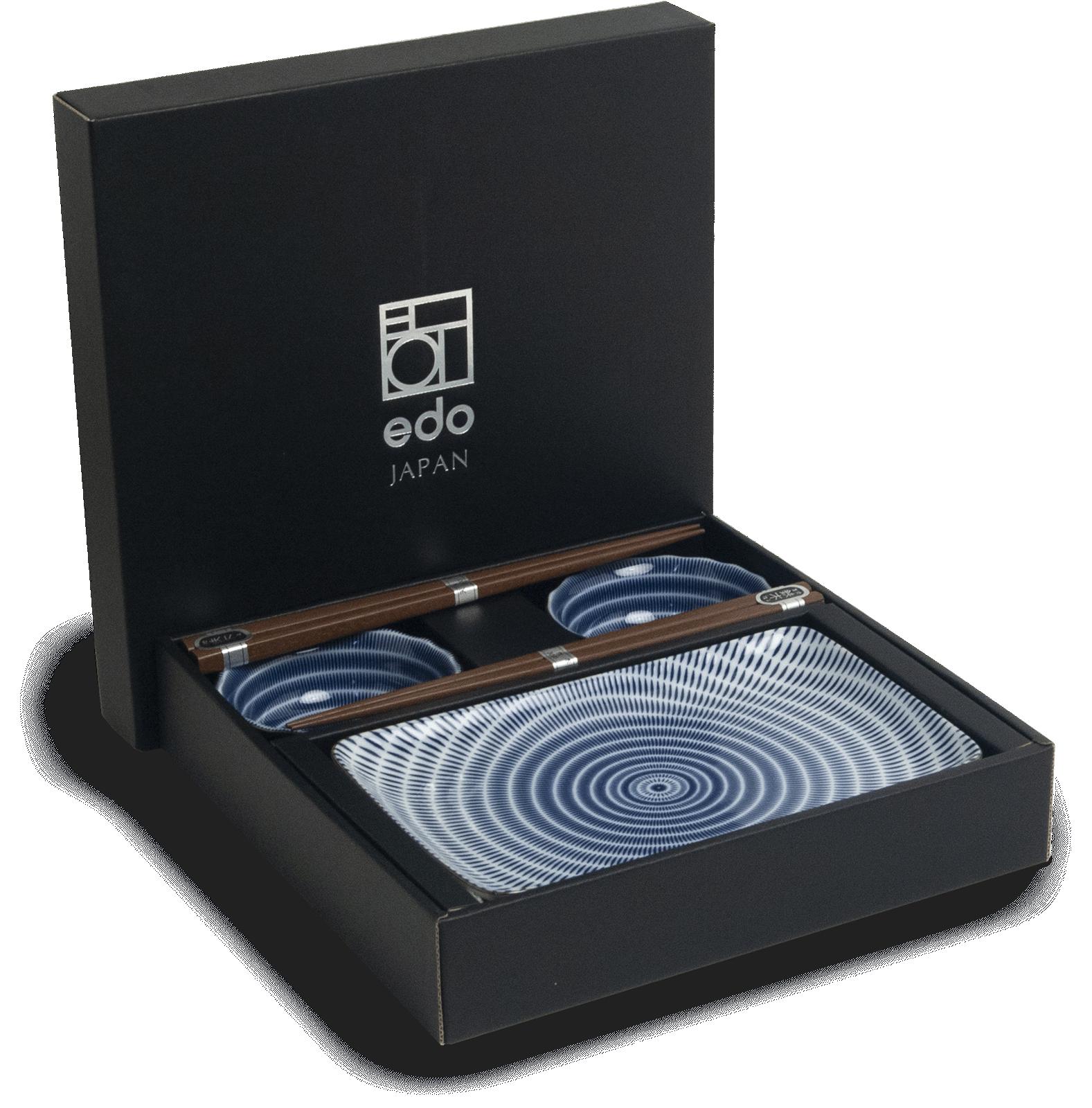 Edo Japan   Edo Japan   TOKUSA   Authentic 6-piece Sushi Dinnerware Set   In Giftbox