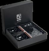 Edo Japan   Edo Japan   HANA BLACK   Authentic 6-piece Sushi Dinnerware Set   In Giftbox
