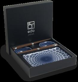 Edo Japan Edo Japan | YUKI | Japanisches Sushi Geschirr Set | 6-Teilig | für 2 Personen | In Geschenkbox