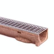 vloergoot polyesterbeton type ECO, incl gegalvaniseerd rooster lengte 1 meter
