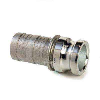 Camlock rvs 316 gegoten, M deel met slangtule, type E