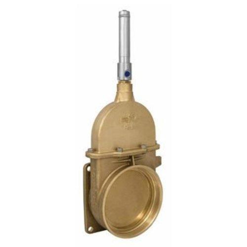 RIV messing schuifafsluiter type 44, flens x bi dr, incl dubbelwerkende hydraulische cilinder