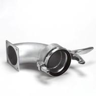 Cardan M-deel + bocht 90º x vierkantflens 159mm x 6''