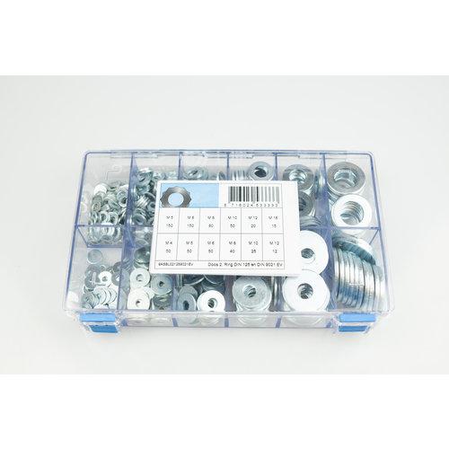 Assortiment box staal elektrolytisch verzinkte ringen