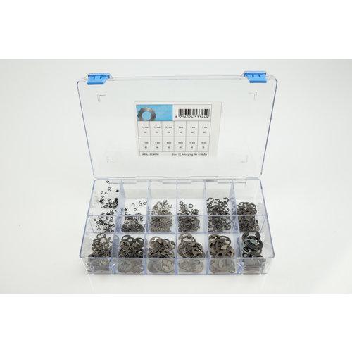 Assortiment box met asborgringen DIN6799 ZW