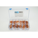 Assortiment box met koperen ringen grote maten