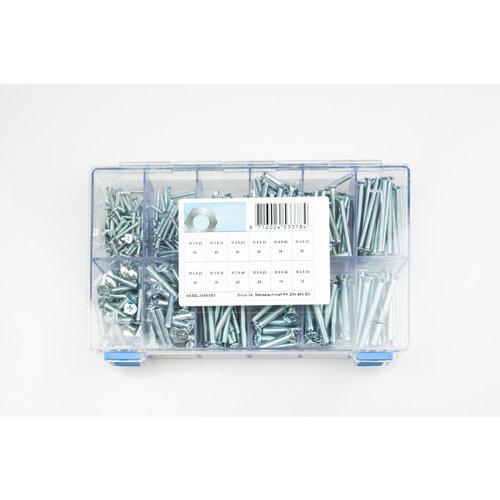 Assortiment box met metaalschroeven elektrolytisch verzinkt