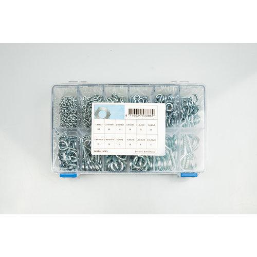 Assortiment box met schroefogen elektrolytisch verzinkt