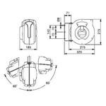 Mavel perslucht- en koudwaterhaspel, type Master Plus Air 9M, l = 8m