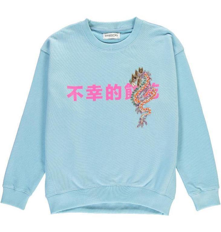Essentiel Antwerp Blue Fortune Cookie Sweater Perenoel