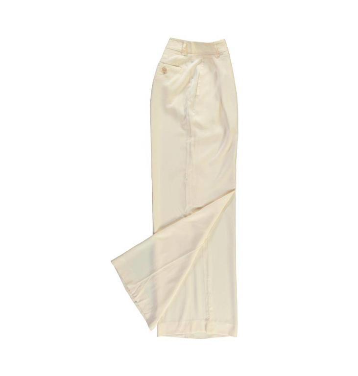 Essentiel Antwerp Soft White Wide Leg Pants Pantalon
