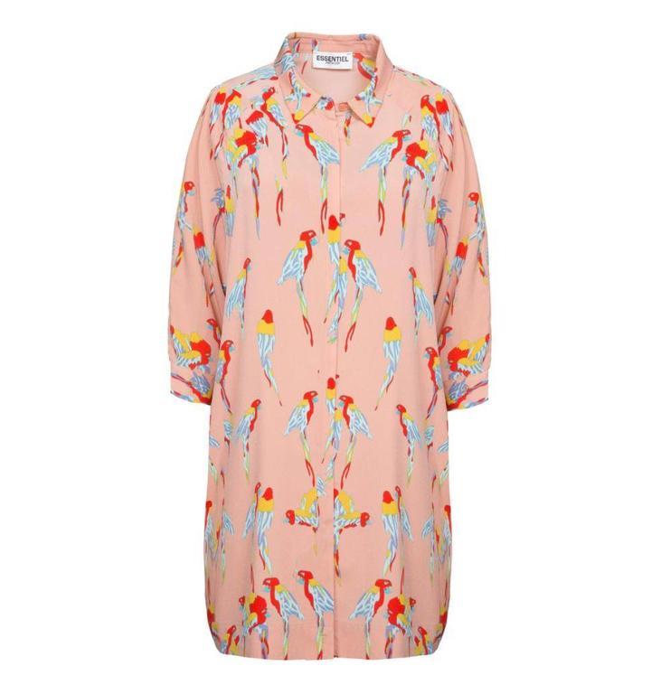 Essentiel Antwerp Pink Shirt Dress Pantera