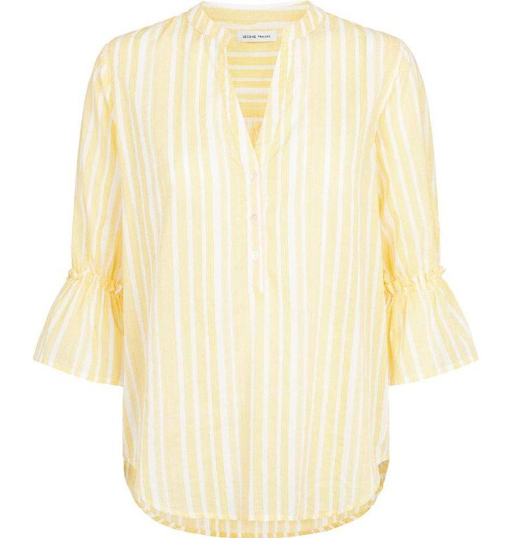 Second Female Yellow Lenorre Placket Blouse 51500